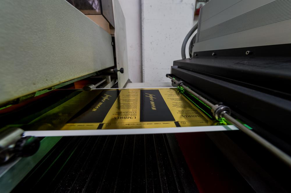 The printing process of labels